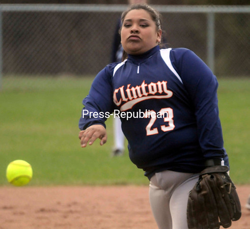 Tuesday, April 19, 2011. Clinton Community College vs. Fullerton-Montgomery Community College in Plattsburgh.  CCC won both games in the doubleheader, 14-0 and 21-3.<br><br>(P-R Photo/Andrew Wyatt)