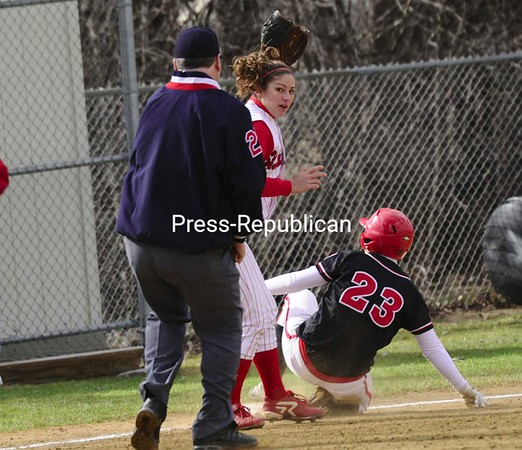 Thursday, April 9, 2009. Plattsburgh State vs. St. Lawrence University in Plattsburgh.  PSUC won 5-0 and 8-0 in the double header.<br><br>(Staff Photo/Michael Betts)