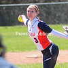 ROB FOUNTAIN STAFF PHOTO  4/25/2016<br /> Clinton plays Columbia-Greene in girls softball Sunday in Plattsburgh.