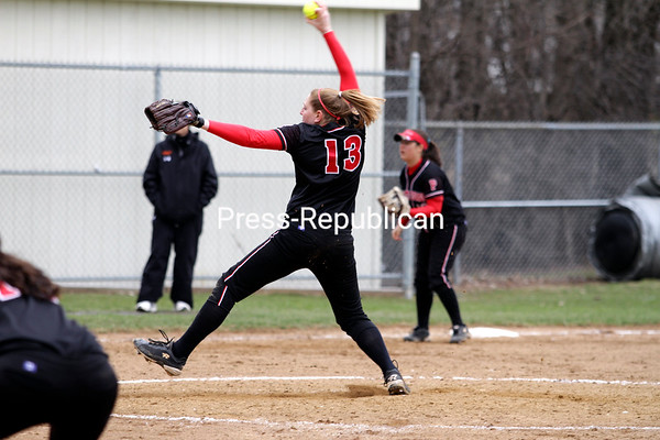 Saturday, April 16, 2011. Plattsburgh State vs. Buffalo State in Plattsburgh.  PSU won both games 8-0 and 8-7.<br><br>(P-R Photo/Gabe Dickens)