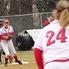 Tuesday, March 31, 2009. Plattsburgh State vs. Potsdam in Plattsburgh. Potsdam won the first game 6-5 and Plattsburgh won the second in 6 innings 9-1.<br><br>(Staff Photo/Michael Betts)