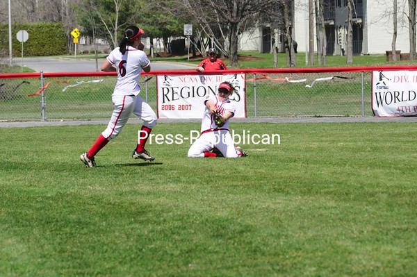 Saturday, April 25, 2009. Plattsburgh State vs. Oswego State in Plattsburgh.  Plattsburgh State won both games 6-0 and 6-0.<br><br>(P-R Photo/Rachel Moore)
