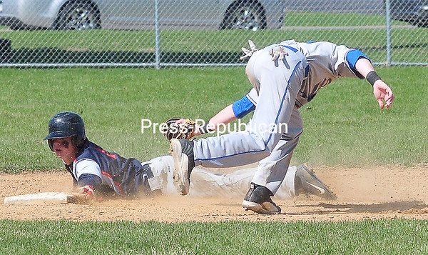 Wednesday, May 7, 2014. Clinton Community College plays Schenectady Community Colleg in men's baseball at Lefty Wilson Field in Plattsburgh Tuesday. <br /><br />(P-R Photo/Rob Fountain)