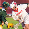 Wednesday, April 15, 2015. Plattsburgh State plays Clarkson University in lacross at Field House Wednesday. <br /><br />(ROB FOUNTAIN/STAFF PHOTO)