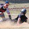 Monday, April 20, 2015. Clinton Community Colleg plays Herkimer Community College in men's baseball Sunday at Lefty Wilson Field in Plattsburgh. <br /><br />(P-R Photo/Rob Fountain)