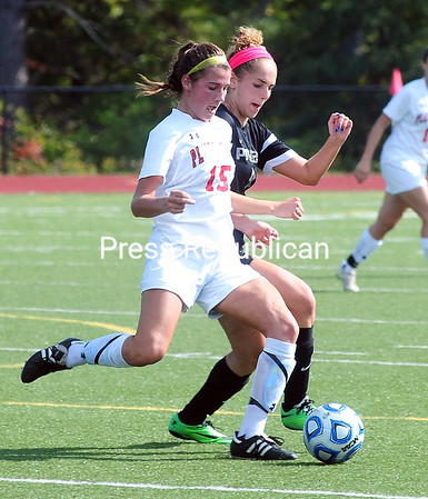 Monday, September 29, 2014. Plattsburgh State plays Potsdam State in women's soccer Sunday at Plattsburgh High School. <br /><br />(P-R Photo/Rob Fountain)