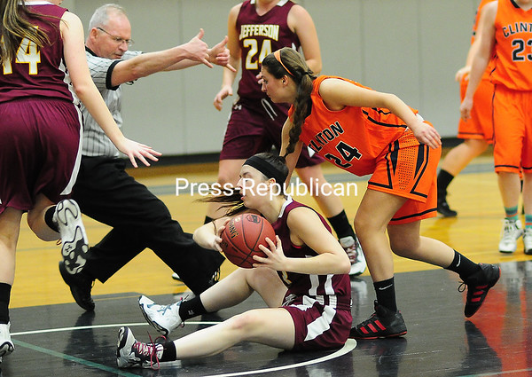 Sunday, January 18, 2015. Clinton plays Jefferson in women's basketball Sunday in Plattsburgh.  <br /><br />(P-R Photo/Rob Fountain)