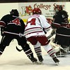 Saturday, February 14, 2009. Plattsburgh State vs. Manhattanville College at the Plattsburgh State Field House.  Plattsburgh State won 6-0.<br><br>(Staff Photo/Michael Betts)