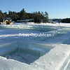 Thursday, January 21, 2010. Crews cut and lay blocks of ice for the Saranac Lake Winter Carnival Ice Palace.<br><br>(Staff Photo/Kim Smith Dedam)