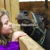 Sunday, May 3, 2009. Annual 4-H Horse Camp at the Clinton County Fairgrounds Sunday. The two-day camp for children focused on safe horse handling and proper riding techniques. <br><br>(P-R Photo/Rachel Moore)