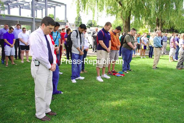 Friday, September 11, 2009. 9/11 Ceremony at Plattsburgh State.<br><br>(P-R Photo/Jennifer Stiles)