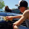 Sunday, May 26, 2013. Plattsburgh High School students held a car wash recently as a National Honor Society community-service project to benefit Disabled American Veterans Chapter 179. <br /><br />(P-R Photo/Rachel Moore)
