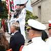 Monday, September 15, 2014. As a part of the bicentennial of the Battle of Plattsburgh, hundreds gathered at the Macdonough Monument in downtown Plattsburgh for a memorial ceremony to celebrate Commodore Thomas Macdonough's naval victory and the 126-foot tall obelisk erected in his honor. <br /><br />(P-R Photo/Gabe Dickens)