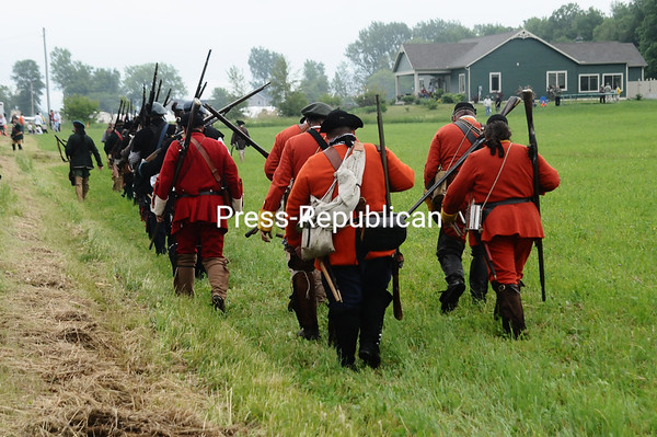 Saturday, June 5, 2010. Re-enactment of the Battle of Point au Fer.<br><br>(P-R Photo/Andrew Wyatt)