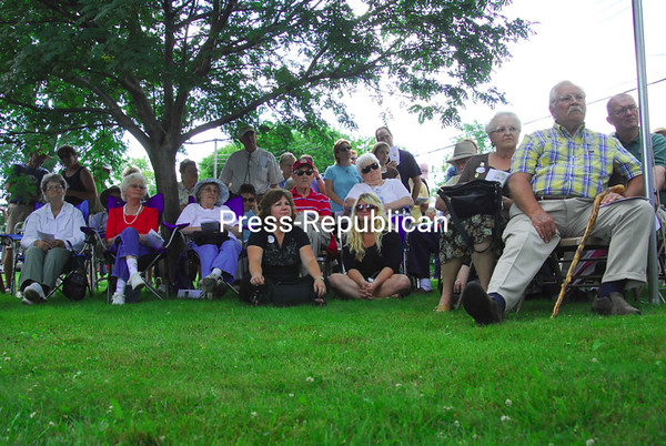 Saturday, July 18, 2009. A new historical marker was unveiled  at a dedication ceremony in Chazy.  The marker commemorates The Twins, the first gas-powered ferry on Lake Champlain.<br><br>(P-R Photo/Rachel Moore)