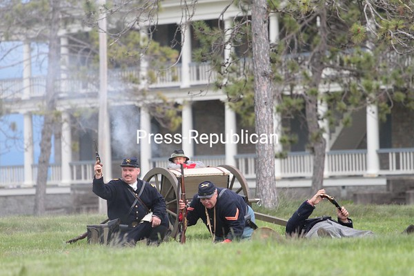 Sunday, May 16, 2010. About 100 soldiers and civilians took part in the event near the Battle of Plattsburgh museum.<br><br>(P-R Photo/Gabe Dickens)