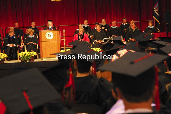 Saturday, May 16, 2009. Plattsburgh State ceremony for the 2009 spring class. Nearly 1,000 students received their degrees.<br><br>(P-R Photo/Rachel Moore)