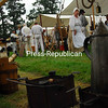 Sunday, September 14, 2008. The encampment of volunteers at the Kent Delord House in Plattsburgh.<br><br>(P-R Photo/Rachel Moore)