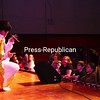 Friday, January 30, 2009. An Elvis impersonator plays to the students at Saranac Elementary  School. <br><br>(Staff Photo/Kelli Catana)