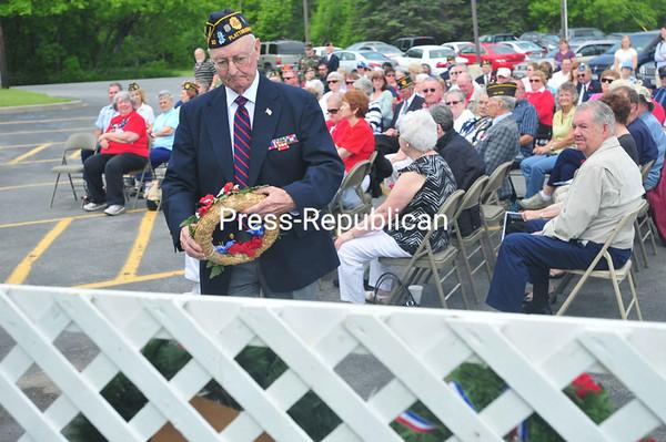 Wednesday, May 30, 2012. American Legion Post 20 Memorial Day Celebration, Quarry Road, Plattsburgh. Guest speaker: Maj. Gen. Robert J. Kasulke, commanding general, Army Reserve Medical Command. <br /><br />(Staff Photo/Kelli Catana)