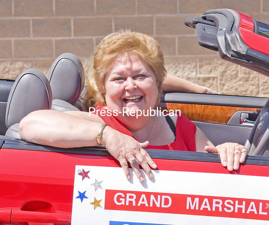 Longtime Moses-Ludington Hospital Community Development Director Carol Johnson was grand marshal for the Ticonderoga Best 4th in the North Parade.<br><br>(Staff Photo/Lohr McKinstry)
