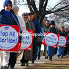 Sunday, January 13, 2008. More than 200 people participated in the march sponsored by the Champlain Valley Right to Life.<br><br>(P-R Photo/Rachel Moore)