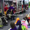 Thursday, October 8, 2009. Bailey Avenue Elementary School's Fire Safety Week. Activities included tours of a fire truck and ambulance and a demonstration of what it's like to be in a smoke-filled home.<br><br>(Staff Photo/Kelli Catana)