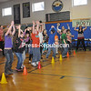 Wednesday, February 13, 2013. Students at Holy Name School in AuSable Forks celebrated with a dance party for winning the Empire Blue Cross Get Active, Get Fit competition. <br /><br />(Staff Photo/Kelli Catana)