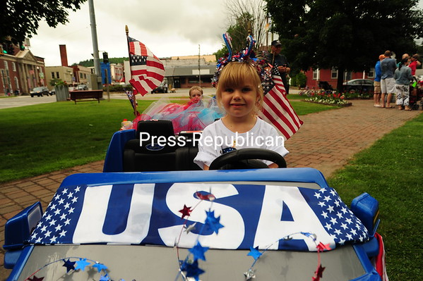 Residents of Saranac Lake celebrate their Fourth of July with a parade, food and music. (Jack LaDuke/P-R Photo)