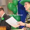 Monday, March 18, 2013. 55th-annual St. Patrick's Day Breakfast held at Plattsburgh State's Angell College Center on Monday. The Irishman of the Year award, a chamber tradition, is given based on dedication of volunteerism in the business community. <br /><br />(Staff Photo/Kelli Catana)