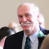 ROB FOUNTAIN/STAFF PHOTO 3-18-2016<br /> <br /> PHOTO 14<br /> Bob Parks makes his way to the podium after being named Irishman of the Year Thursday during the 58th-annual St. Patrick's Day Breakfast in the College Angell Center in Plattsburgh.