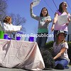 Sunday, April 19, 2009. A group of girls selling lemonade on South Catherine Street.  Proceeds wentt towards getting a haircut for Ned, a dog.<br><br>(P-R Photo/Rachel Moore)