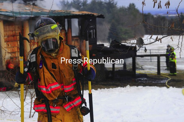 Wednesday, January 6, 2010. Fire destroyed a home on Allen Road in Peru.<br><br>(Staff Photo/Kelli Catana)