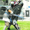 The Knights of Shire Colowood battle Saturday during the annual Mayor's Cup in Plattsburgh.<br><br>(P-R Photo/Rob Fountain)