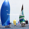 Monday, July 14, 2014. Around 100 boats participate in the 37th-annual Mayor's Cup Regatta on Lake Champlain in Plattsburgh Bay Saturday morning. <br /><br />(P-R Photo/Gabe Dickens)