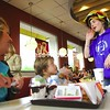 Wednesday, May 27, 2009. Peru teachers and staff volunteered their time after school to help serve dinner to hungry customers at McDonalds in Peru. A portion of the proceeds will support Peru's K-5 Parent Teacher Organization's efforts to fund field trips, visiting authors and performing artists.<br><br>(P-R Photo/Rachel Moore)