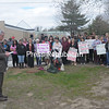 Wednesday, May 1, 2013. Plattsburgh State students and community members gathered on the corner of Beekman and Brinkerhoff streets where an incident occurred during the annual Take Back the Night march. <br /><br />(Staff Photo/Kelli Catana)