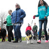 Monday, May 5, 2014. Walkers head out on the trail Sunday during the 2014 PetWalk at Melissa Penfield Park in Plattsburgh.  <br /><br />(P-R Photo/Rob Fountain)