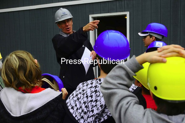 Thursday, May 28, 2009. Local students visited Graymont Materials in Plattsurgh to learn about mining, recycling and construction.<br><br>(Staff Photo/Kelli Catana)