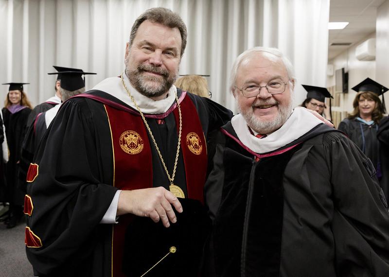 President Tom Flynn with John Carr