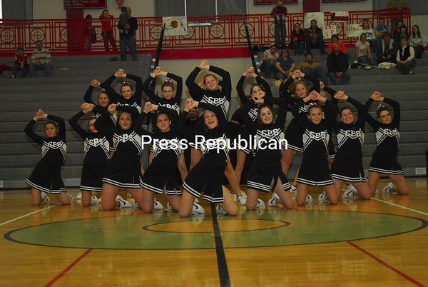 Sunday, February 8, 2009. Champlain Valley Athletic Conference Cheerleading Competition at Beekmantown Central High School.<br><br>(P-R Photo/Rachel Moore)
