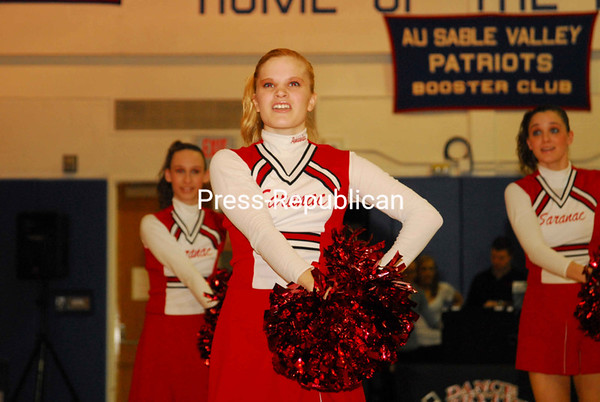 Sunday, February 24, 2008. 2008 CVAC Cheerleading Competition at AuSable Valley Central School.  Northeastern Clinton Central School won first place.<br><br>(P-R Photo/Rachel Moore)