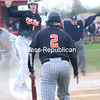 ROB FOUNTAIN/STAFF PHOTO   5-17-2016<br /> Plattsburgh High plays Beekmantown Centrel in a CVAC Boys baseball game Monday in Beekmantown.