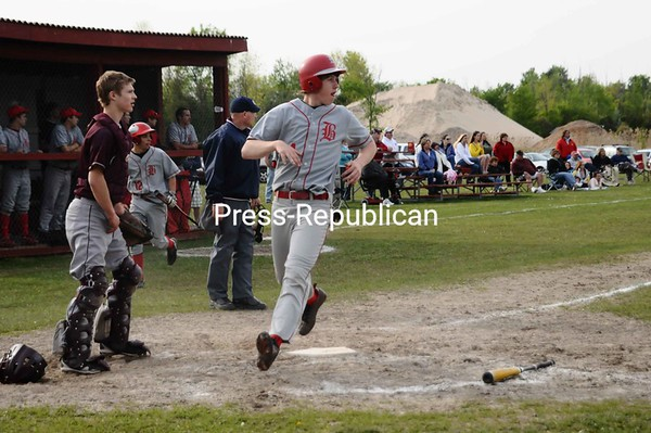 Tuesday, May 11, 2010. Northeastern Clinton Central High School vs. Beekmantown Central High School in Beekmantown.  NCCS won 10-6.<br><br>(P-R Photo/Andrew Wyatt)