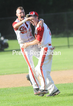 Thursday, May 31, 2012. The Saranac baseball team held off Beekmantown with a 6-5 win to capture its first Section VII Class B title since 2008. <br /><br />(P-R Photo/Rob Fountain)