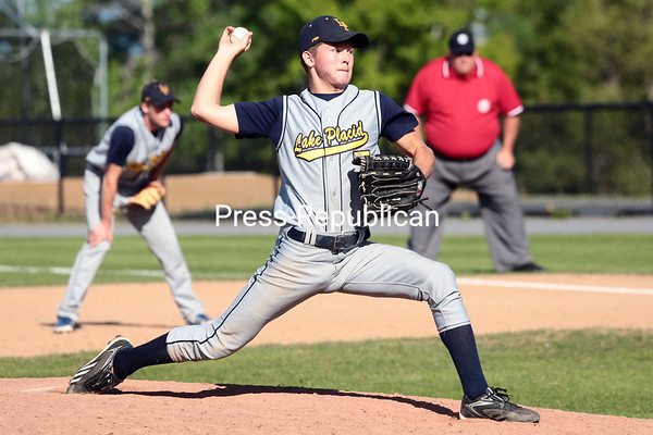 Thursday, May 29, 2014. The Lake Placid Blue Bombers defeated the Moriah Vikings to claim the Section VII Class D championship Thursday afternoon at Chip Cummings Field in Plattsburgh. <br /><br />(P-R Photo/Gabe Dickens)