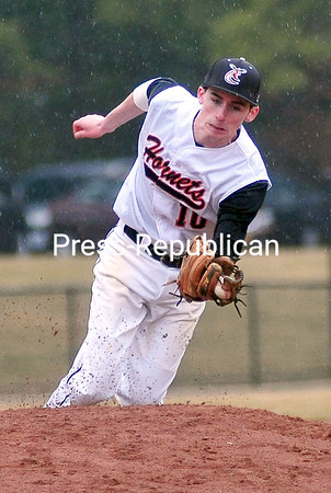 Wednesday, April 23, 2014. Plattsburgh plays Saranac during CVAC Baseball action at Chip Cummings Field in Plattsburgh Tuesday April 22, 2014. <br /><br />(P-R Photo/Rob Fountain)