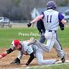 Tuesday, May 6, 2014. Beekmantown plays Ticonderoga in CVAC boys baseball Monday in Beekmantown. <br /><br />(P-R Photo/Rob Fountain)