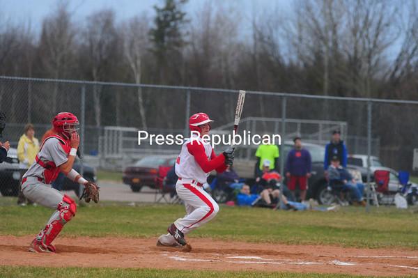 Monday, April 25, 2011. Saranac Lake High School vs. Saranac Central High School in Saranac.  Saranac Lake won 3-2.<br><br>(Staff Photo/Kelli Catana)
