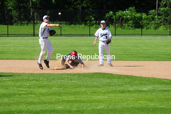 Tuesday, June 4, 2013. The Beekmantown Eagles hosted the Section II champions from Schalmont in the NYSPHSAA regional semi-final at Chip Cummings Field. (Staff Photo/Kelli Catana) <br /><br />(Staff Photo/Kelli Catana)
